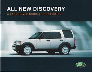 Land Rover Discovery First Edition UK Market Brochure 2004 Inc TDV6 & V8 Petrol