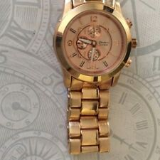 GENEVA WOMEN'S OVERSIZE BOYFRIEND STYLE WATCH ROSE GOLD HIGH QUALITY NEW BEAUTY!