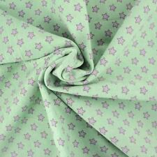 Verde - Little stelle cotone jersey tessuto con Spandex OKEO TEX CERTIFICATA