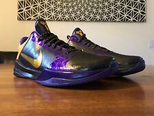 Zoom Kobe V - Black/Del Sol- Varsity Purple - Deadstock Size 11