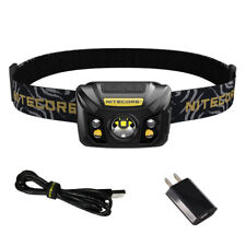 NITECORE NU32 550 lm LED Rechargeable Headlamp w/ White & Red Beams + AC Adapter
