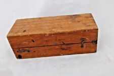 Vintage Old Wooden Pen/Pencil Box Handcrafted Teak Wood Kalamdan India