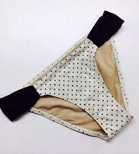 VICTORIA's SECRET Very Sexy Ruched Hipkini BIkini Swim Suit BOTTOM Black Dot XS