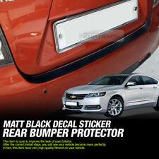 Rear Bumper Protector Decal Sticker Matt Black For CHEVROLET 2014 - 2019 Impala