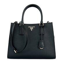 Prada Tote Shoulder Bag Medium Black Saffiano Leather New