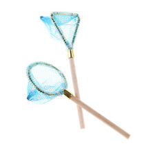 Dollhouse Miniature Wood Fishing Net Life Scene Decoration Outdoor Sports Toy Ia