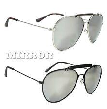 NWT Retro Aviator Sunglasses Legacy Rich Metal Mirror Lens Men Women Frame