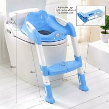 Kids Toilet Potty Pee Training Seat Baby Toddler Trainer Urinal Step Ladder Blue