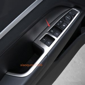 Stainless Silver Window Switch Panel Cover Trim For Hyundai Elantra 2017-2020