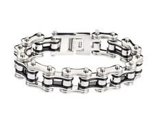 "Biker Chain Bracelet Stainless Steel 3/4 "" Wide 9"" Or 9.5"""
