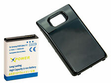 X Power 3600mAh Extended Battery + Black Door For Samsung Galaxy S2 i9100