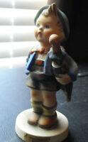 "Vintage TMK 4 Hummel Figurine Home From Market Boy 198 4 1/2"" Tall"