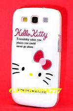 for samsung galaxy S3 cute kitten hello kitty hard case friendship white pink/