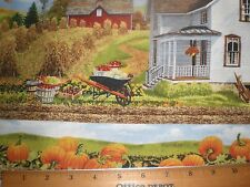 "Fabric-""Bring in Harvest Border -- Gorgeous country Homes in Fall-Wilmington"