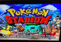 ✅ Pokemon Stadium Nintendo 64 N64 Video Game Cart Battle Retro Pikachu Super Fun