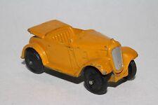 1940's Dinky #35d Austin 7 Convertible, Original,  Yellow, Lot #4