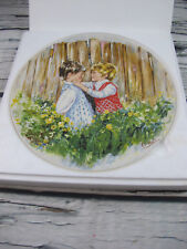 "Wedgwood Queen's Ware 8"" Collector Plate 'Be My Friend' by Mary Vickers 1981 Mib"