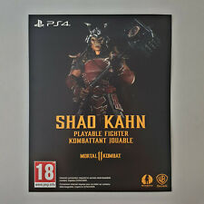 Mortal Kombat 11 Shao Kahn Playable Fighter DLC Download Code Playstation 4 PS4