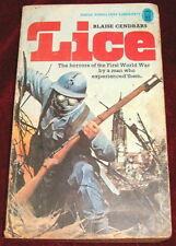 LICE..BLAISE CENDRARS..PB NEL  1st EDITION 1974 WWI FIRST WORLD WAR HORRORS
