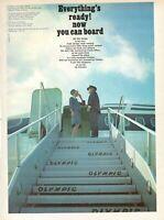 1968 Original Advertising' Vintage Olympic Airways Airlines Ladder