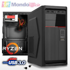 PC Computer AMD RYZEN 3 1300X Quad Core - Ram 8 GB DDR4 - USB 3.0 - Card Reader
