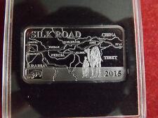 * Selten ! Cook Island 2 Dollars 2015 Silber PP (1/2 Oz) * Die Seidenstraße