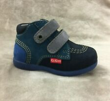 New $80 KICKERS Baby Boys Toddler Winter Shoes Boots LEATHER Sz 4 USA/20 EURO