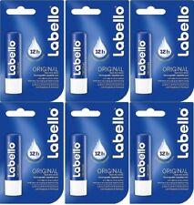LABELLO ORIGINAL CLASSIC CARE LIP BALM STICK BEAUTY LIPS 6 Pcs. Free Shipping