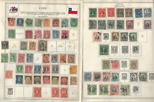Chile Stamp Collection 1867 to 1963 on 28 Minkus Global Pages