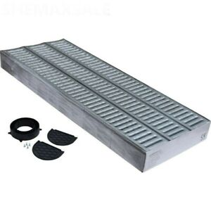 Drainage Channel Garage Pack 3m Galvanised Grating + Fittings