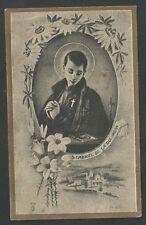 Estampa antigua de San Gabriel de la Dolorosa andachtsbild santino holy card