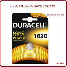 Set di 10 batterie pulsanti CR1620 litio Duracell