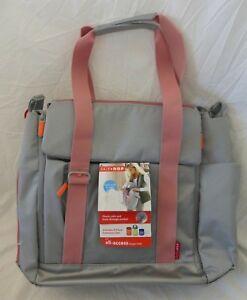 SKIP HOP Grey & Pink Fit All-Access Diaper Tote Bag NWT