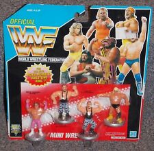 1991 Hasbro Wwf Wrestling Mini Figures 4 Pack New In The Package