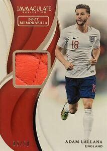 2018/19 Panini Immaculate Soccer - Adam Lallana Boot Card - England #05/50