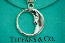 Tiffany & co. 92.5% Silver Man in the Moon Double Chain Necklace