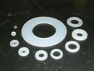 Polythene (Plastic) Washers- 11 sizes to choose from, various quantities