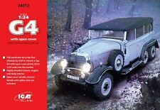 ICM 24012 1/24 MERCEDES G4 With Open Cover WWII German Personnel Car