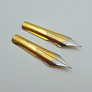 Set of 2 Kanwrite No.6 (35 mm) F Ultra Flex Fountain Pen Nibs - TTF
