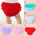 New Toddler Baby Girls Bloomers Panties Cotton Lace Ruffle Nappy Diaper Cover