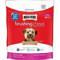 Milk-Bone Brushing Chews Daily Dental Dog Treats 48 Treats Mini