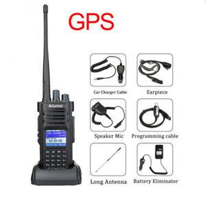Ailunce HD1 Walkie Talkie Ham two way Radios GPS IP67 Dual Band DMR 10W 3200mAh