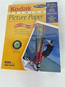 KODAK Premium Picture Paper 8.5x11 in. High Gloss 100 Sheets Heavy Weight SEAL