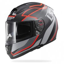 LS2 FF397 VECTOR FT2 VANTAGE MATT BLACK / RED LARGE INC FREE ANTIFOG RRP £169