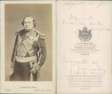 Pierson, Paris, Charles Rigault de Genouilly Vintage albumen cdv print.Charles