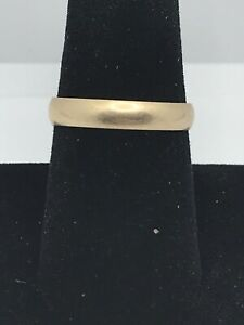 10k Gold Men's Wedding Band Ring Marked 8.75 Size 9