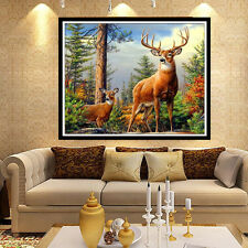 5D Deer 40X30 Diamond Painting Cross Stitch Embroidery Rhinestone Decoration
