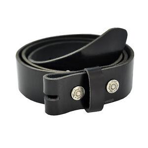 95 CM Cintura IN Pelle Cintura Fibbia Nero Pelle con Pulsante #001
