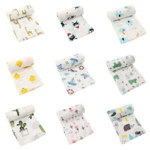 110*110CM Cotton Baby Blankets Newborn Soft Cotton Baby Blanket Muslin Swaddle