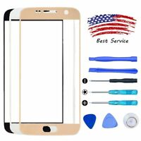 For Samsung GALAXY S7 Outer Front Touch Screen Lens Replacement Glass Tools Kit